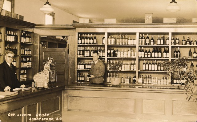 The Abbotsford government liquor store in the 1920s.